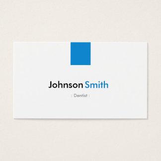 Dentiste - bleu simple d'Aqua Cartes De Visite