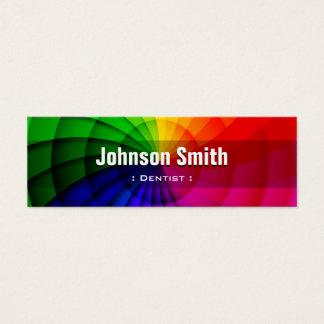 Dentiste - couleurs radiales d'arc-en-ciel mini carte de visite