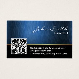 Dentiste de code du bleu royal QR de soins Cartes De Visite
