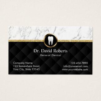 Dentiste de luxe de marbre moderne de rendez-vous cartes de visite