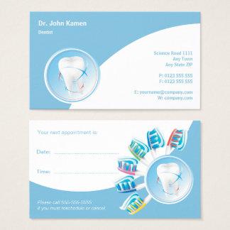 Dentiste dentaire de la carte   de rendez-vous