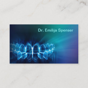 Dentiste Miroitant Le Carte De Visite Bleu