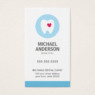 Dentiste ou clinique/assistant dentaires moderne cartes de visite