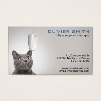 Dépannage et conseil informatique cartes de visite