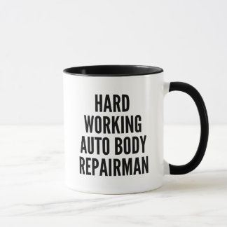 Dépanneur automatique travaillant dur de corps mug