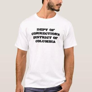 département de DISTRICT DE COLUMBIA de corrections T-shirt