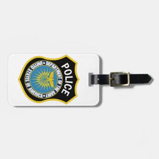 Département de la police d'armée étiquette à bagage