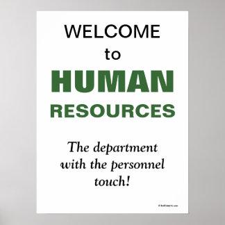 Département de ressources humaines humoristique de poster