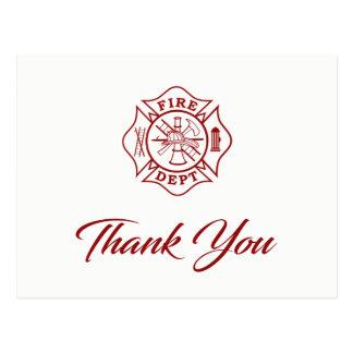 Département du feu - Carte postale de Merci de