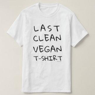 Dernier T-shirt végétalien propre