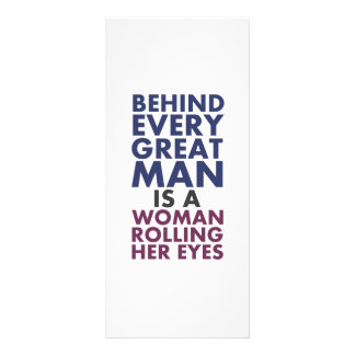Derrière chaque grand homme est une femme roulant motif pour double carte