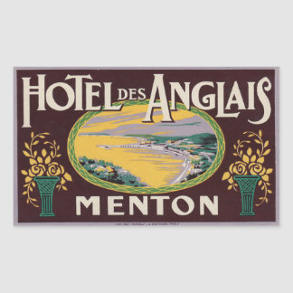 DES Anglais Menton France d hôtel Autocollants