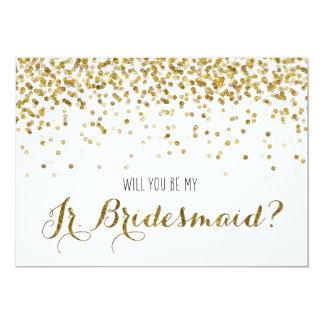 Des confettis de scintillement d'or vous serez mon carton d'invitation  12,7 cm x 17,78 cm
