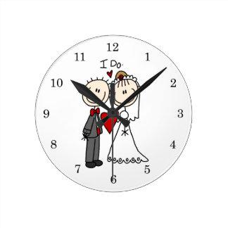 Des couples de mariage je fais le T-shirts et les  Horloge Ronde