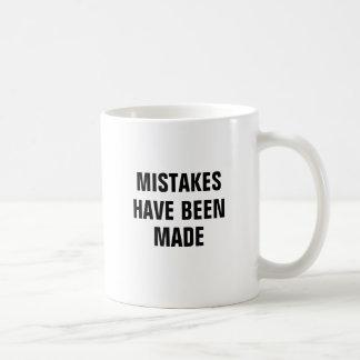 Des erreurs ont été faites mug