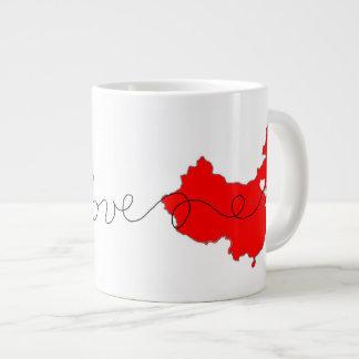 Des Etats-Unis avec la tasse de café d'amour