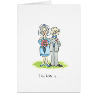 Des félicitations plus anciennes de mariage carte de vœux