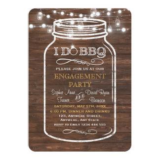 Des lumières de ficelle de pot de maçon JE FAIS la Carton D'invitation 11,43 Cm X 15,87 Cm