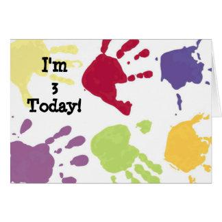 Des mains je suis aujourd'hui carte d'anniversaire