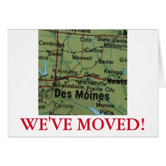 Des Moines nous avons déplacé le faire-part