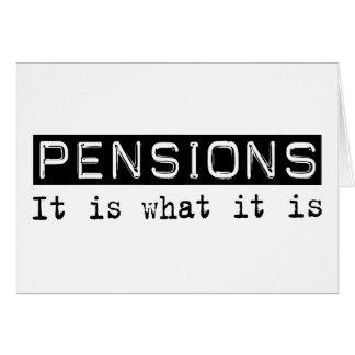 Des pensions il est carte de vœux