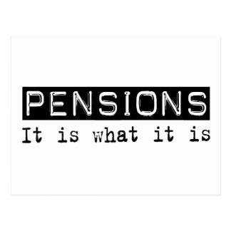 Des pensions il est carte postale
