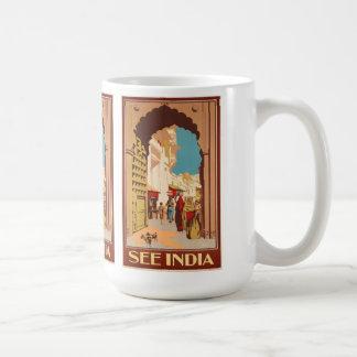 Des tasses d'affiche de voyage de l'Inde - choisis