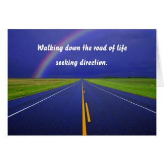 Descendre la carte de voeux de route
