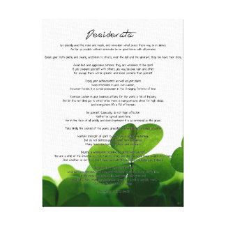 """Desiderata """"choses désirées"""" sur les trèfles verts toiles"""
