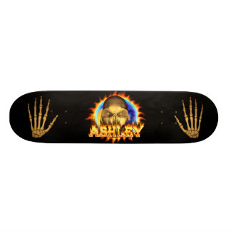 Desig du vrai feu de crâne d'Ashley et de planche Plateaux De Skateboards