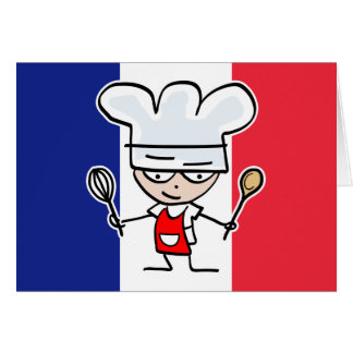 Design de carte français de salutation de chef