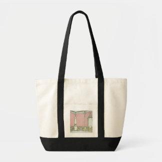 Design d'intérieur pour une brasserie, illustratio sac en toile impulse
