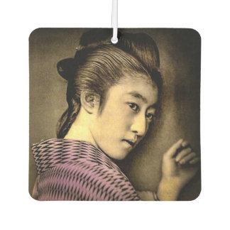 Désodorisant Pour Voiture Geisha dans les ombres vieux Japon vintage