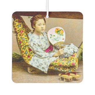 Désodorisant Pour Voiture Geisha vintage dans des ordures vieux Japon de