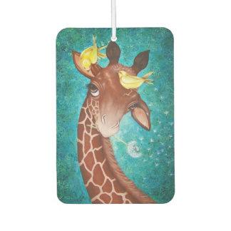 Désodorisant Pour Voiture Girafe mignonne avec des oiseaux