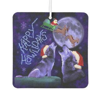 Désodorisant Pour Voiture Humour heureux de Howlidays Père Noël de loup