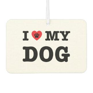 Désodorisant Pour Voiture I coeur mon chien