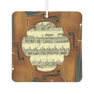 Désodorisant Pour Voiture Manuscrit de musique de Bach Partita de violons de