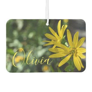 Désodorisant Pour Voiture Photographie florale de nature de fleur jaune de