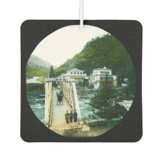Désodorisant Pour Voiture Pont de croisement japonais vintage de matin vieux