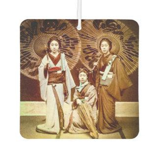 Désodorisant Pour Voiture Un trio de geisha japonais dans le vieux 芸者 de cru