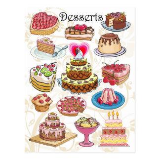 Desserts Carte Postale