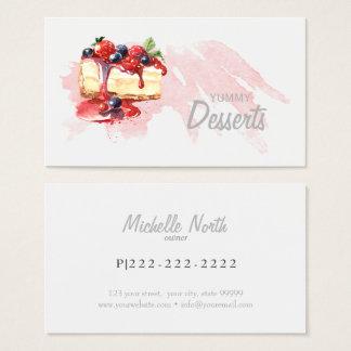 Desserts ID298 de boulangerie d'aquarelle Cartes De Visite