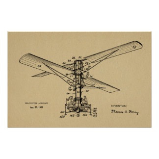 Dessin 1925 vintage de brevet d'avions