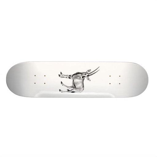 Dessin animal d'antilope de klaxon vintage de four plateau de skateboard