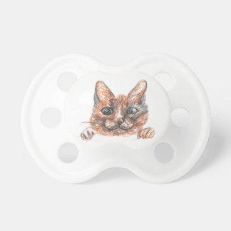 Dessin de chat, tétine mignonne de motif de chaton