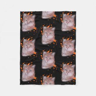 Dessin de couverture orange de chat tigré et de