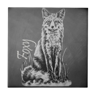 Dessin de craie de l'art animal de Fox sur le Petit Carreau Carré