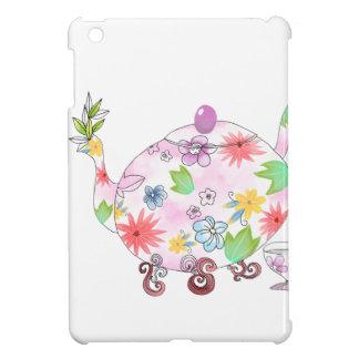Dessin fleurissant d'illustration de pot de thé coque pour iPad mini