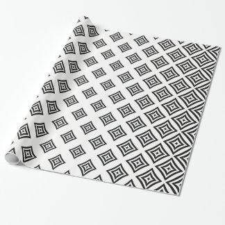Dessin géométrique noir papiers cadeaux noël